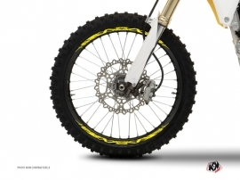 Graphic Kit Wheel decals Dirt Bike Eraser Fluo Yellow