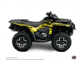 Can Am Outlander 1000 ATV Eraser Fluo Graphic Kit Yellow
