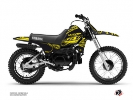 Yamaha PW 80 Dirt Bike Eraser Fluo Graphic Kit Yellow