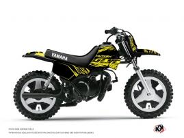 Kit Déco Moto Cross ERASER FLUO Yamaha PW 80 Jaune