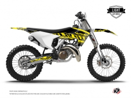 Kit Déco Moto Cross Eraser Fluo Husqvarna TC 125 Jaune LIGHT