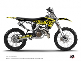 Husqvarna TC 125 Dirt Bike Eraser Fluo Graphic Kit Yellow