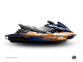 Kit Déco Jet Ski Eraser Yamaha FZR - FZS Bleu - Orange