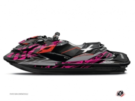 Seadoo GTR-GTI Jet-Ski Eraser Graphic Kit Grey Pink