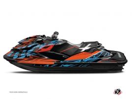 Kit Déco Jet Ski Eraser Seadoo GTR-GTI Orange - Bleu