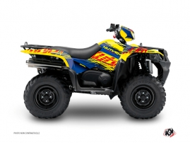 Suzuki King Quad 400 ATV Eraser Graphic Kit Blue Yellow