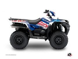 Suzuki King Quad 400 ATV Eraser Graphic Kit Blue Red