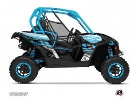 Can Am Maverick UTV Eraser Graphic Kit Blue White
