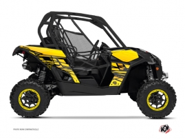 Can Am Maverick UTV Eraser Graphic Kit Yellow