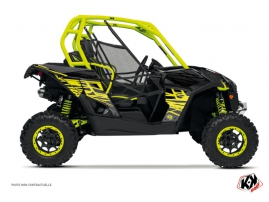 Can Am Maverick UTV Eraser Graphic Kit Neon Grey