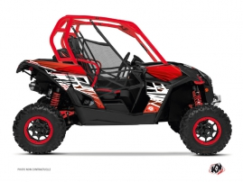 Can Am Maverick UTV Eraser Graphic Kit Red White