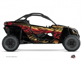 Can Am Maverick X3 UTV Eraser Graphic Kit Gold