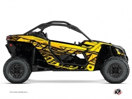 Can Am Maverick X3 UTV Eraser Graphic Kit Yellow