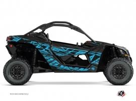 Kit Déco SSV Eraser Can Am Maverick X3 Noir Bleu