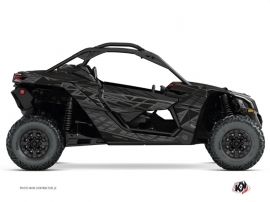 Can Am Maverick X3 UTV Eraser Graphic Kit Black Grey