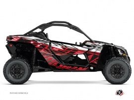 Can Am Maverick X3 UTV Eraser Graphic Kit Black Red