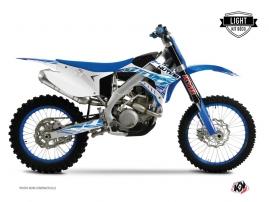 Kit Déco Moto Cross Eraser TM MX 125 Bleu LIGHT