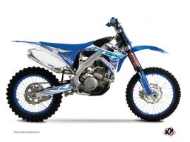 Kit Déco Moto Cross Eraser TM MX 250 Bleu