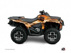 Can Am Outlander 1000 ATV Eraser Graphic Kit Orange Black