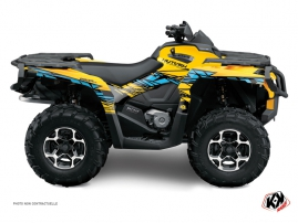 Can Am Outlander 500-650-800 MAX ATV Eraser Graphic Kit Yellow Blue