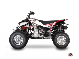 Polaris Outlaw 450 ATV Eraser Graphic Kit Red White