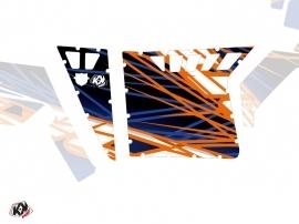 Kit Déco Portes Suicide Pro Armor Eraser SSV Polaris RZR 570/800/900 2008-2014 Bleu Orange