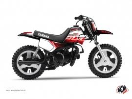 Kit Déco Moto Cross Eraser Yamaha PW 50 Rouge-Blanc