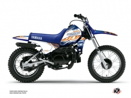 Yamaha PW 80 Dirt Bike Eraser Graphic Kit Blue Orange