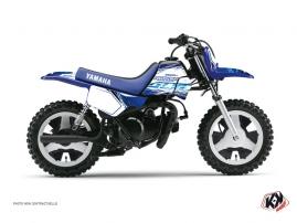 Kit Déco Moto Cross ERASER Yamaha PW 80 Bleu