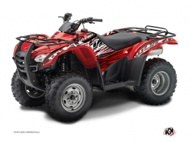 Honda Rancher 420 ATV Eraser Graphic Kit Red White