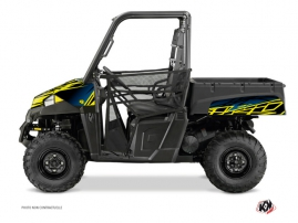 Polaris Ranger 570 UTV Eraser Graphic Kit Neon Blue
