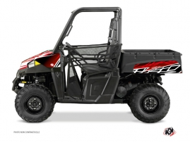 Polaris Ranger 570 UTV Eraser Graphic Kit Red White