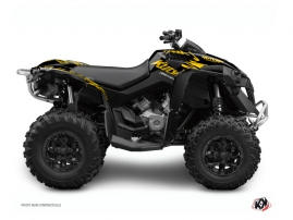 Can Am Renegade ATV Eraser Graphic Kit Yellow Black