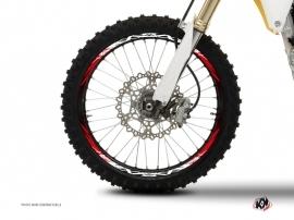 Kit Déco Tour de jantes Moto Cross Eraser Rouge Blanc