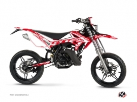Beta RR 50 Motard 50cc Eraser Graphic Kit White Red