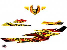 Seadoo RXT-GTX Jet-Ski Eraser Graphic Kit Red Yellow