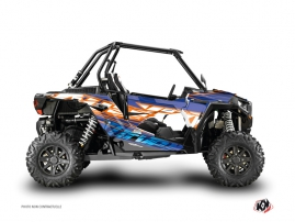 Kit Déco SSV Eraser Polaris RZR 1000 Bleu Orange