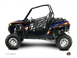 Polaris RZR 800 S UTV Eraser Graphic Kit Blue Orange