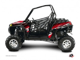 Polaris RZR 900 XP UTV Eraser Graphic Kit Red White