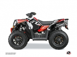 Kit Déco Quad Eraser Polaris Scrambler 850-1000 XP Rouge Blanc