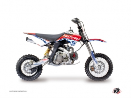 YCF SP Dirt Bike Eraser Graphic Kit Red Blue