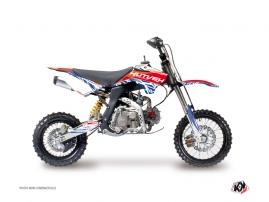 Kit Déco Moto Cross Eraser YCF SP Rouge - Bleu
