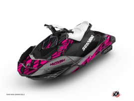 Seadoo Spark Jet-Ski Eraser Graphic Kit Grey Pink