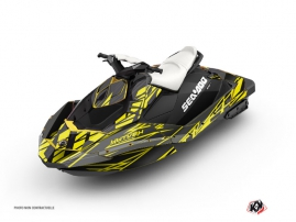 Seadoo Spark Jet-Ski Eraser Graphic Kit Neon Grey