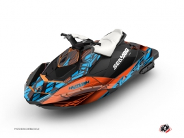 Seadoo Spark Jet-Ski Eraser Graphic Kit Orange Blue
