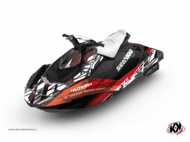 Seadoo Spark Jet-Ski Eraser Graphic Kit Red White