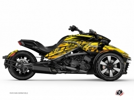 Can Am Spyder F3T Roadster Eraser Graphic Kit Yellow