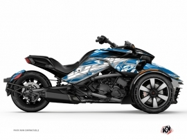 Can Am Spyder F3 Limited Roadster Eraser Graphic Kit Grey Blue