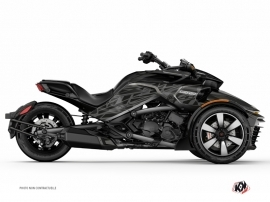 Can Am Spyder F3 Limited Roadster Eraser Graphic Kit Black Grey