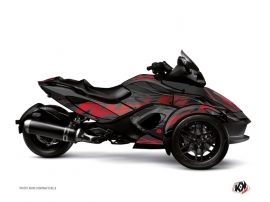 Can Am Spyder RT Roadster Eraser Graphic Kit Grey Red